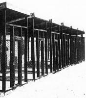 Security cages where Ezra Pound was held in Italy.