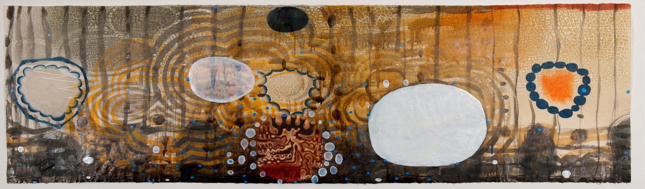 """Artwork by Karen Kunc: """"Aqua Regia,"""" 2010, woodcut, mezzotint, screenprint"""