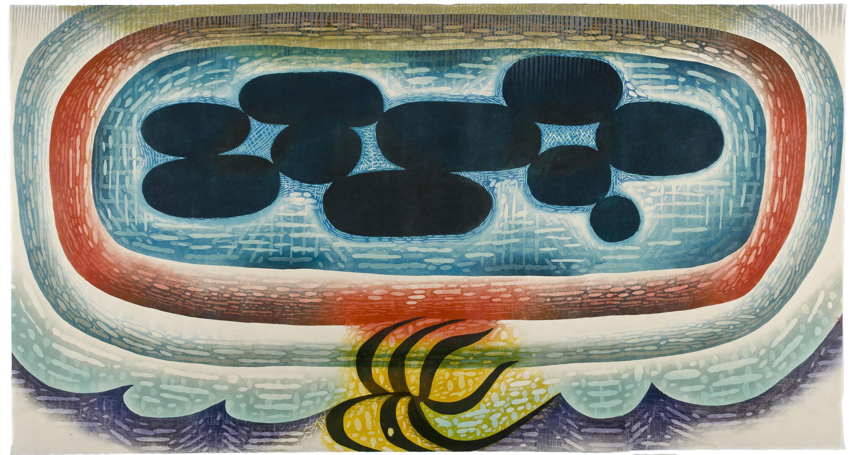 "Artwork by Karen Kunc: ""The Immeasurable,"" 2011, woodcut, 39"" x 72"""