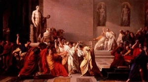 """Camuccini's painting """"The Death of Ceasar"""" (1798)"""