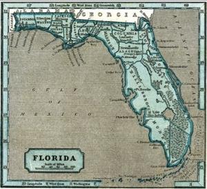 Florida State Map 1845